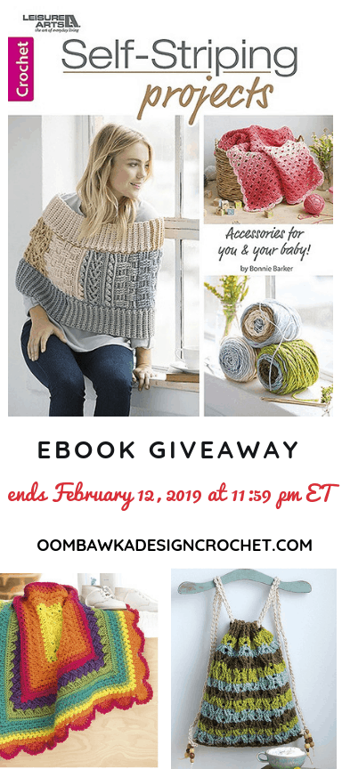 Self Striping Projects Giveaway ends Feb 12 at Oombawka Design Crochet