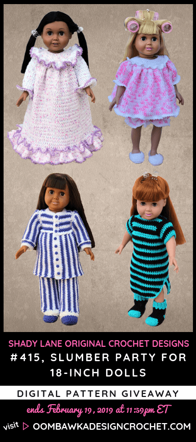 ShadyLaneOriginal Slumber Party Pattern Pack Giveaway at Oombawka Design Crochet
