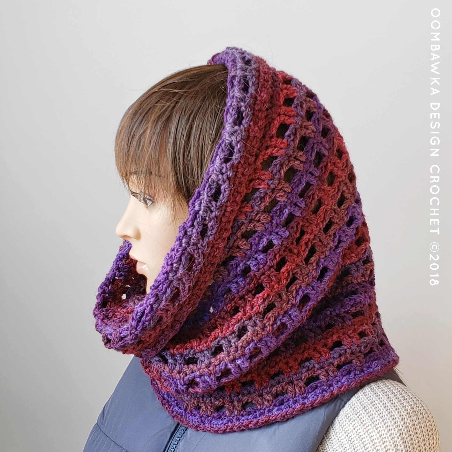 Viola Cowl Pattern February Scarf of the Month Club 2019 Pattern Oombawka Design Crochet