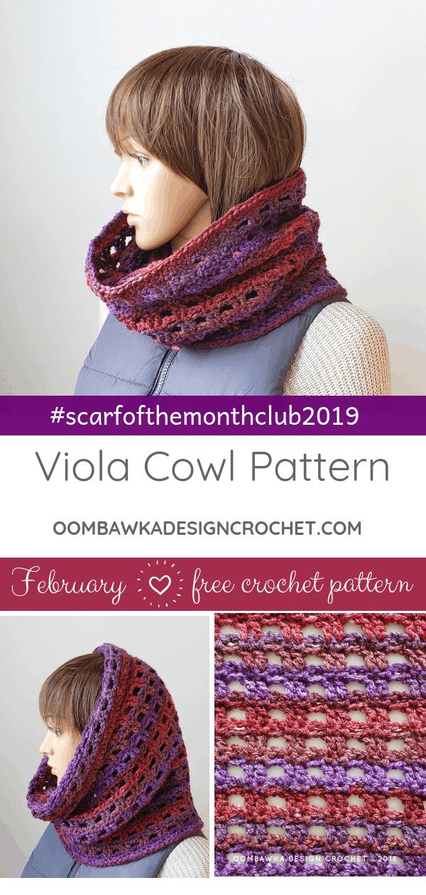 Viola Cowl Pattern February ScarfoftheMonthClub2019