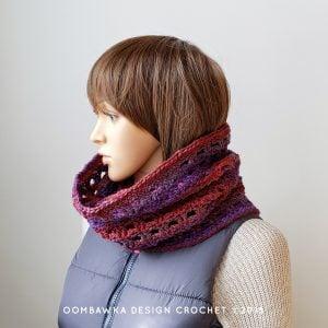 Viola Cowl Pattern Oombawka Design Crochet scarfofthemonthclub2019 February