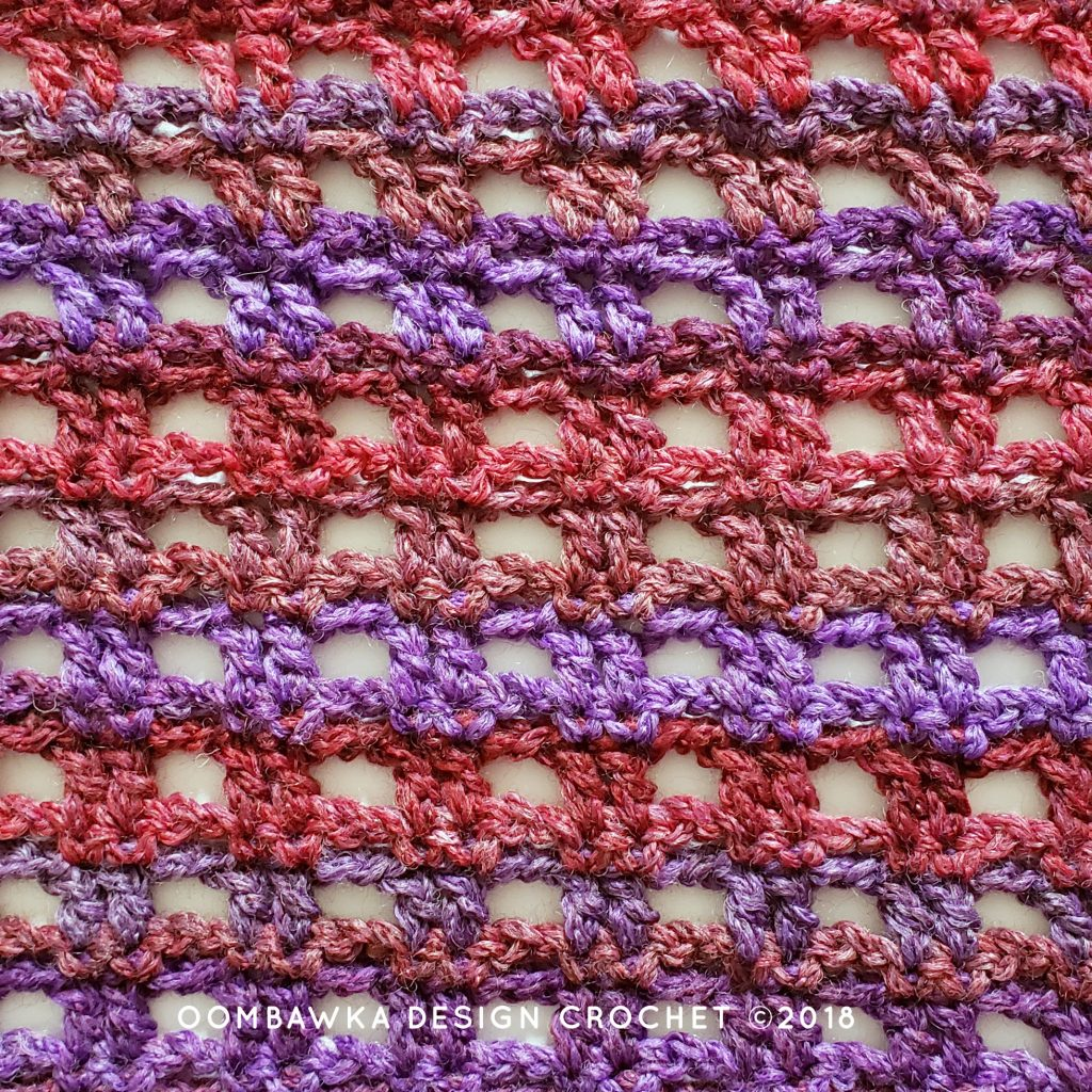 Viola Cowl Pattern Stitches Close Up Oombawka Design Crochet