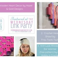 Wednesday Link Party 281 Features with Oombawka Design Crochet and The Stitchin Mommy