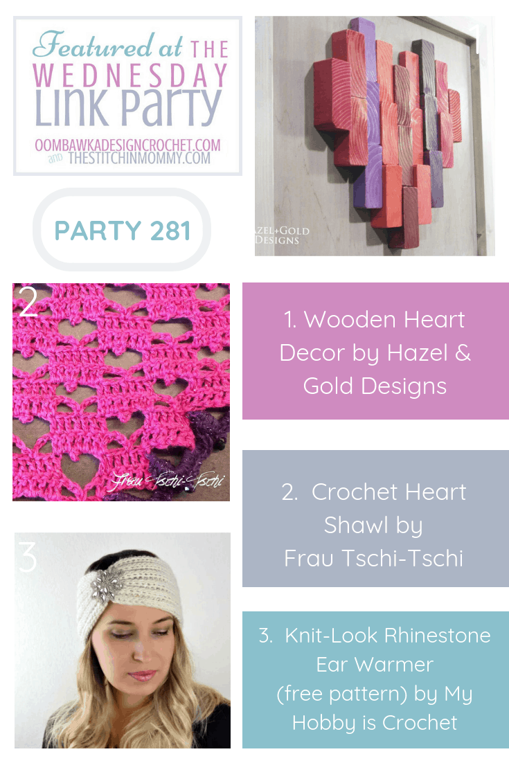 Wednesday Link Party 281 Features with Oombawka Design Crochet and The Stitchin Mommy Pin