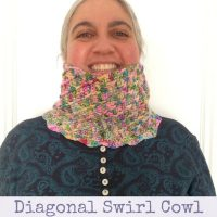 Featured at the Wednesday Link party 282 - Diagonal Swirl Cowl - Underground Crafter