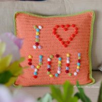 Featured at Wednesday Link Party 282 I Love You Pillow - Atelier Marie-Lucienne