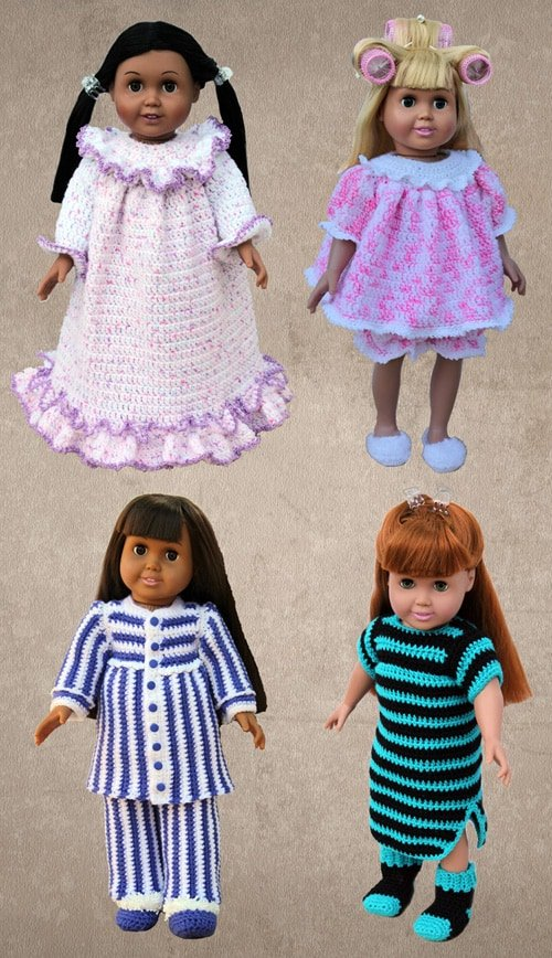 Shady Lane Pattern Set 415 Slumber Party for 18-inch Dolls. Review and Giveaway at Oombawka Design.