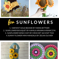 10 Free Crochet Patterns for Sunflowers