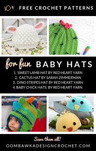 10 free patterns for fun baby hats