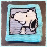 Snoopy Case for Cherry Stone Pillow – Freebie by Frau Tschi-Tschi