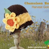 Harvest Gold Beanie 14-132 by Maria Bittner