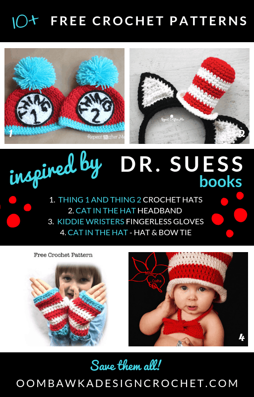 Free Cat in the Hat Crochet patterns