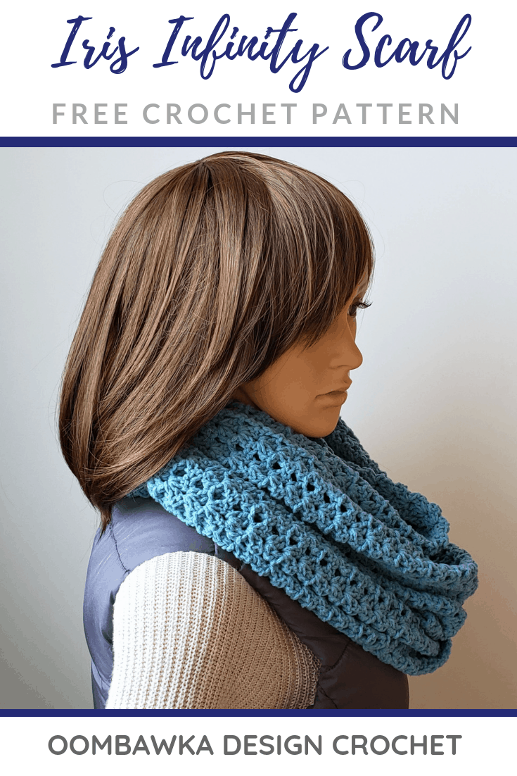 Iris Everyday Infinity Scarf Pattern by Oombawka Design Crochet 2019