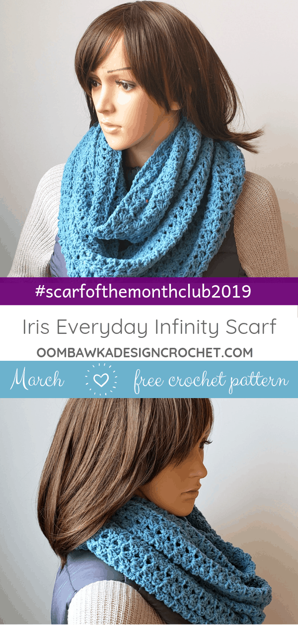 Iris Everyday Infinity Scarf Pattern by Oombawka Design Crochet