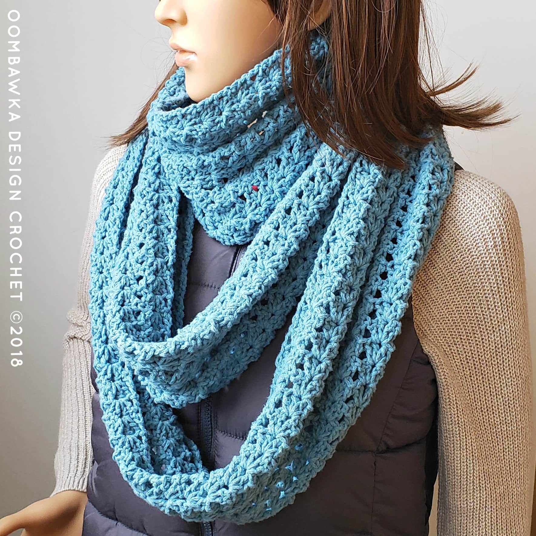 Iris Everyday Infinity Scarf Pattern from Oombawka Design Crochet
