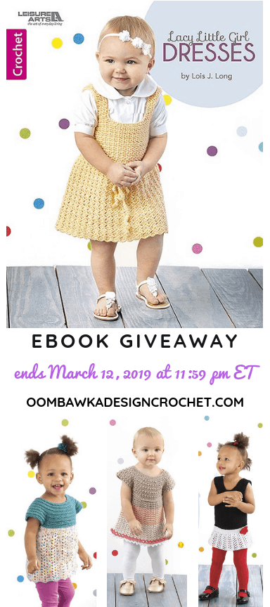 Lacy Little Girl Dresses Leisure Arts book review and giveaway oombawkadesigncrochet