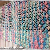 Flower Lattice Curtain Crochet Pattern by Debi Dearest