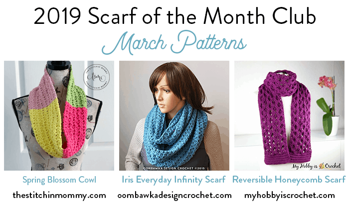 March Scarf of the Month Club CAL 2019
