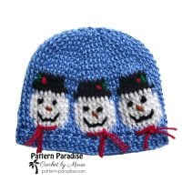 Snowmen Hat by Maria Bittner