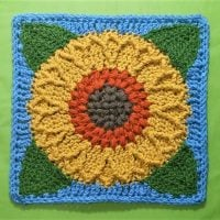 Sunflower Harvest Square by Laurinda Reddig
