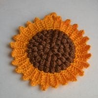Sunflower potholder pattern