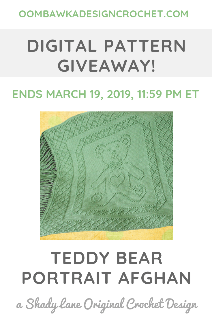 Teddy Beaar Portrait Afghan Pattern Giveaway PIN