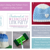 Wednesday Link Party 287 Featuring Aidan Crochet Baby Hat Pattern in 3 sizes