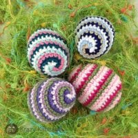 Crochet Spiral Easter Eggs Pattern - Krazy Kabbage