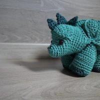 Dino puzzle ball - Emzzcrochee