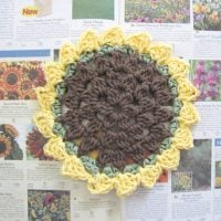sunflower dish cloth 007