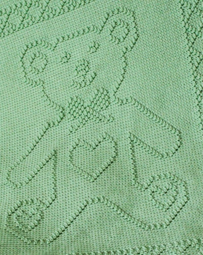 Teddy Bear Portrait Afghan Pattern from Shady Lane Original Crochet Designs