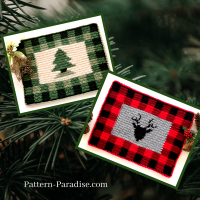 Buffalo Plaid Placemat by Maria Bittner