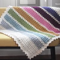 Chunky VStitch Blanket Pattern