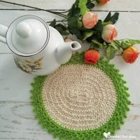 Oval Table Mat with Jute Hemp by Erangi Udeshika