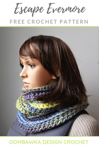 Escape Evermore Cowl Pattern Scarf of the Month Club April 2019 Oombawka Design
