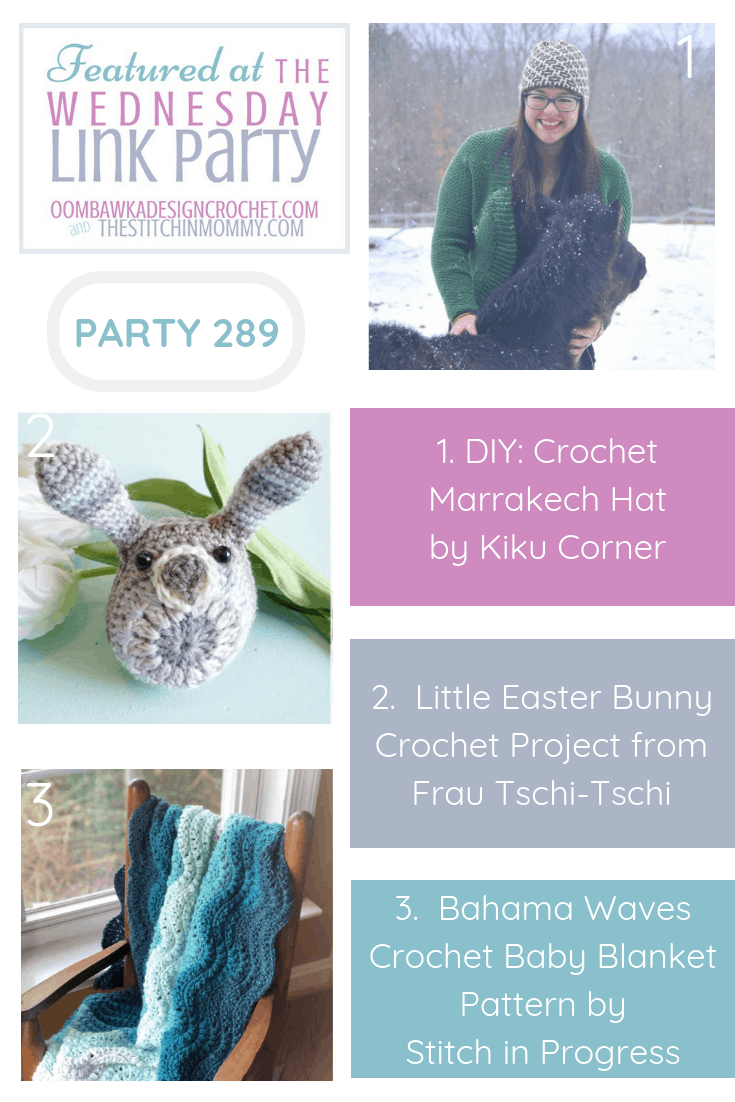 Featured Favorites Wednesday Link Party 289 Marrakech Hat Easter Bunny and Bahama Waves Blanket PIN