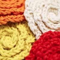 Flower Face Cleansing Scrubbies Pattern