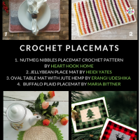 Free Placemat Crochet Patterns Roundup at Oombawka Design Crochet