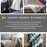 Super Chunky Crochet Blanket Patterns