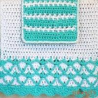 Mermaid Towel Pattern and Washcloth Pattern Set