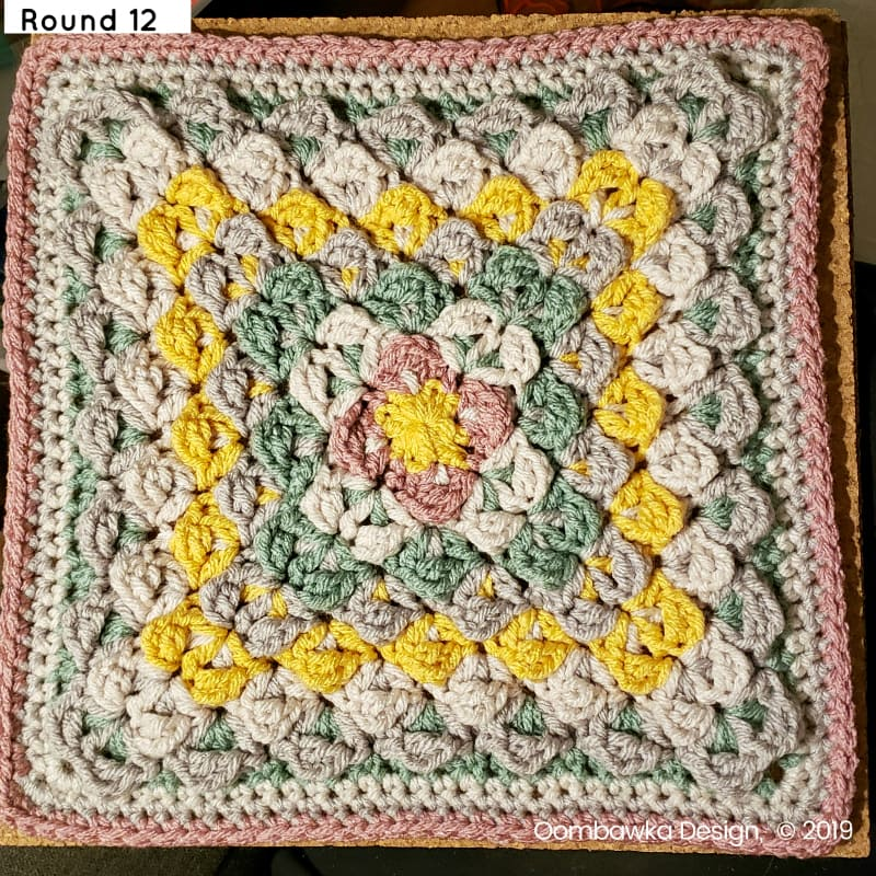 R12 Finding Balance Afghan Square Round 12