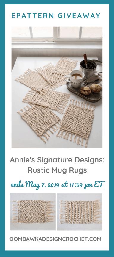 Rustic Mug Rugs ePattern Giveaway