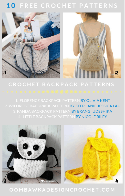 10 Free Crochet Backpack Patterns