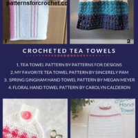 10 Free Crochet Tea Towel Patterns Roundup oombawkadesigncrochet