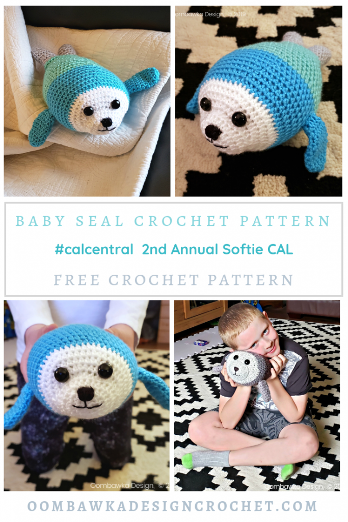 2019 Softie CAL with CAL Central Crochet Baby Seal Crochet Pattern Oombawka Design 2