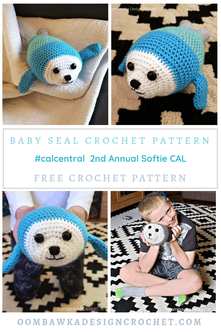 Free Baby Seal Crochet Pattern. #CALCENTRAL Softie CAL