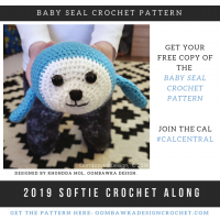 2019 Softie CAL with CAL Central Crochet Baby Seal Crochet Pattern Oombawka Design
