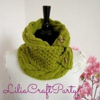Alice Cowl. Knitting Pattern from Lilia Craft Party