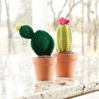 Crochet Roundup Free Patterns. Cacti Pattern by Yarnspirations Design Studio