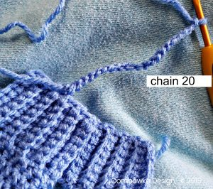 Ch 20 Simple Tie Mitten Cuff No Scratch Mitts oombawka design
